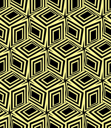 3d boxes seamless pattern, vector background. Vector