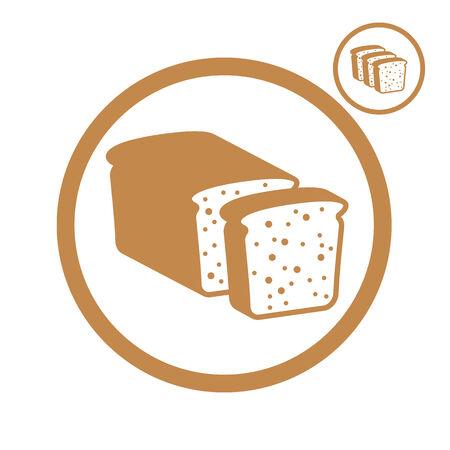 picto: Bread single color vector icon. Illustration