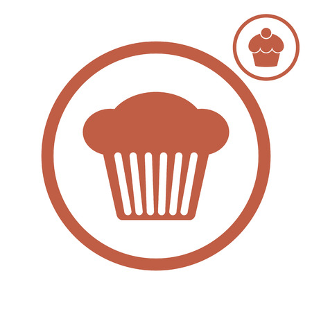 cupcakes isolated: Cupcake vector icon.