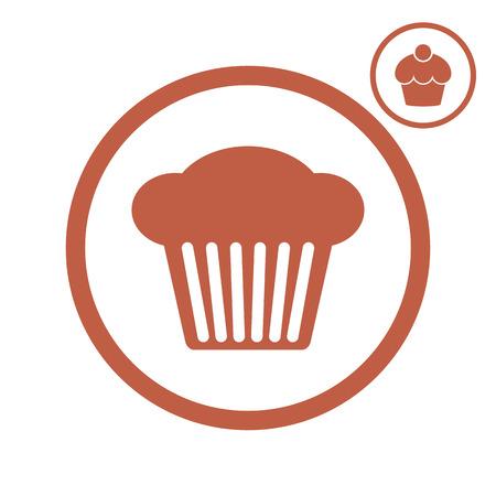 Cupcake vector icon.