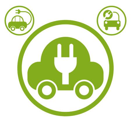 Electric car simple vector icon Vector