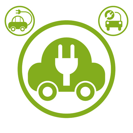 pictogramme: Electric car simple vector icon