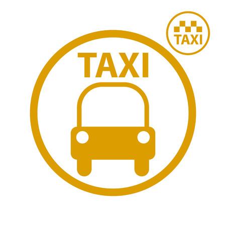 Taxi car icon, vector. Vector