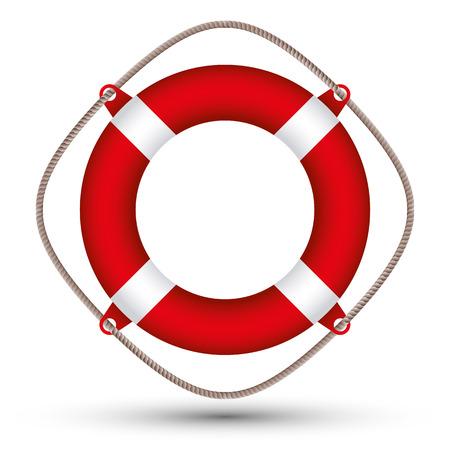 Life buoy vector illustration. Vector