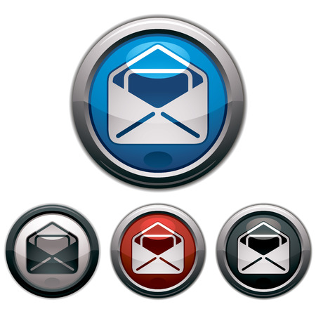 picto: Mail icon, vector, colors set.