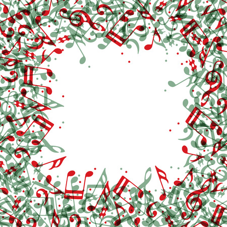Music frame with notes, vector background. Vector
