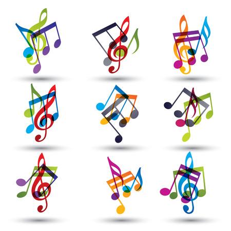 音符は、アイコン セット、ベクトルを抽象化します。  イラスト・ベクター素材