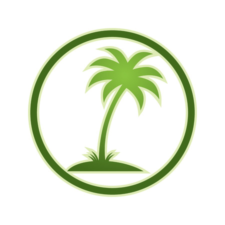 indicate: Palm tree icon, vector.