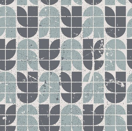 Retro seamless pattern with seamless messy texture.