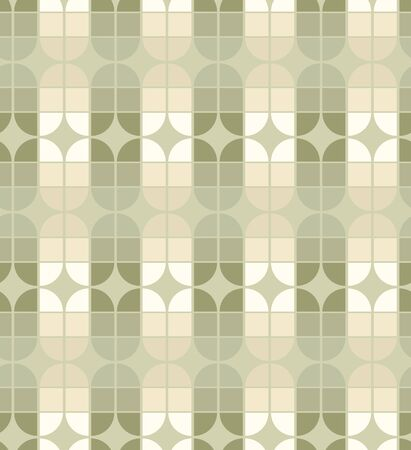pale colors: Seamless geometric tiles pattern in vintage style, vector abstract background in pale colors.