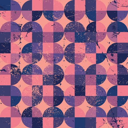 Old scratched and spotted mosaic seamless background, vector retro style design.   Vector