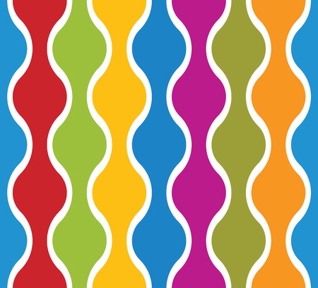 simplistic: Simplistic colorful wavy lines seamless pattern, vector background.