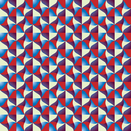 Optical tiles seamless pattern, vector background. Vector