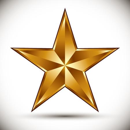 gold star: Golden star vector.