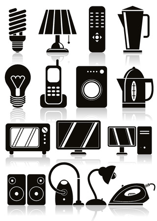appliances: Household appliances icons set.