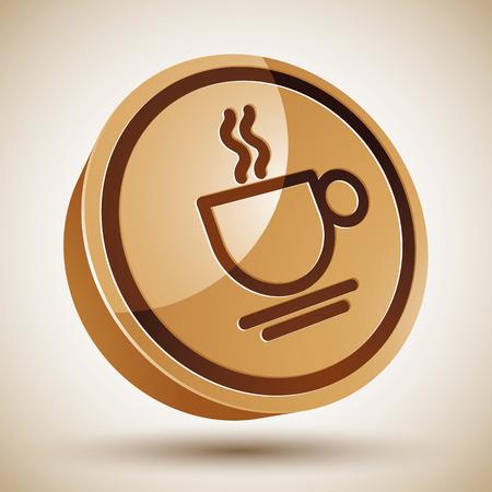 コーヒーカップ: コーヒー カップのアイコン、ベクトル。  イラスト・ベクター素材