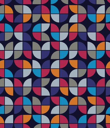 regular: Seamless mosaic tiles pattern in retro style.