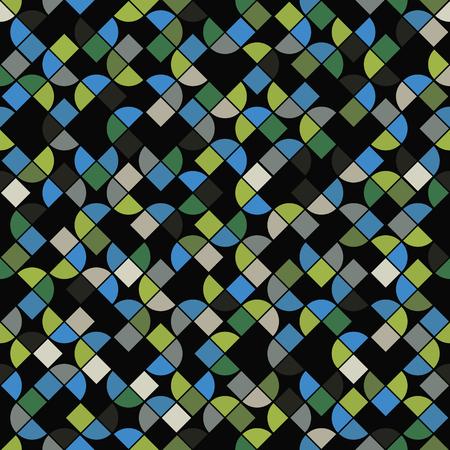 regular: Seamless mosaic pattern, vector design, abstract geometric background.