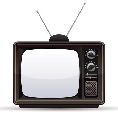 tv screen: Retro TV set, vector illustration.