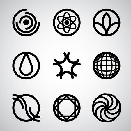 simplistic: Abstract symbols simplistic vector set.