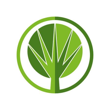 pictogramme: Tree vector round icon.