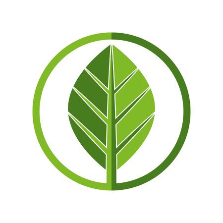 simplistic icon: Leaf simplistic round vector icon.