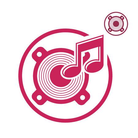 speaker icon: Speaker icon isolated, single color vector music theme symbol