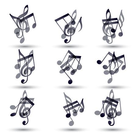 sonata: Set of musical notes icons