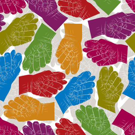 obscene: Fig fico hands seamless pattern