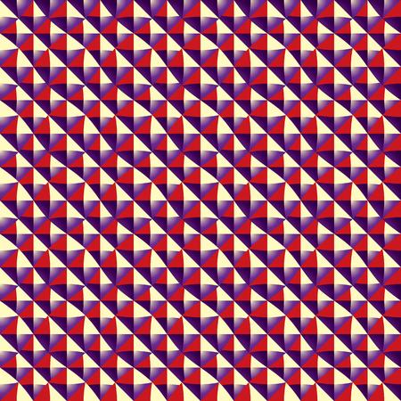Optical rectangular tiles seamless pattern, vector background. Vector