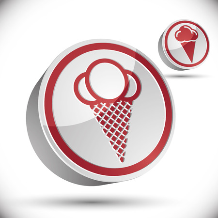 softcream: Ice cream icon isolated on white background.