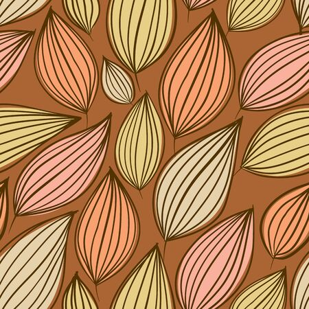 Seamless floral pattern, hand drawn, vector.