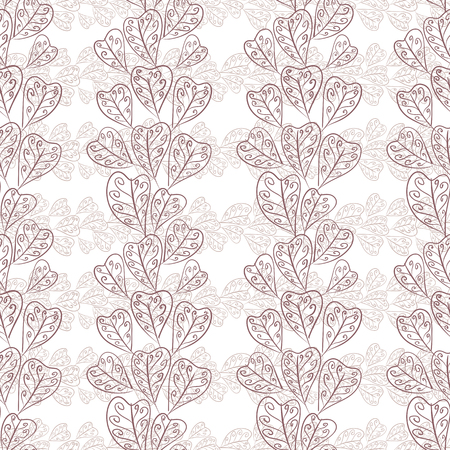 fall leaves: Seamless fall leaves pattern, floral wallpaper, hand drawn, vector. Illustration