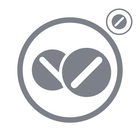 heartache: Medical pills vector icon.