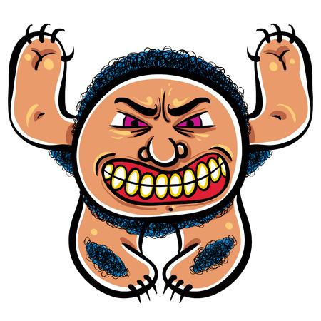 angry cartoon: Angry cartoon monster, vector illustration. Illustration