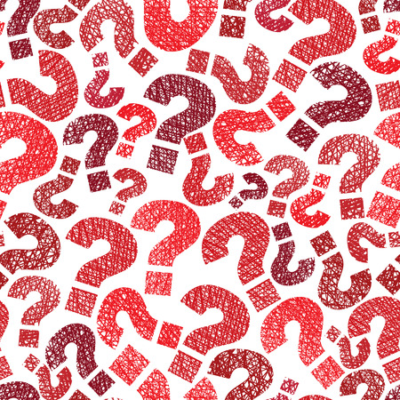 Queries marks seamless pattern