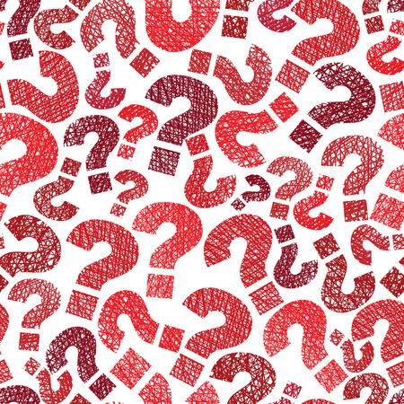 signo de interrogacion: Consultas marca sin fisuras patrón Vectores