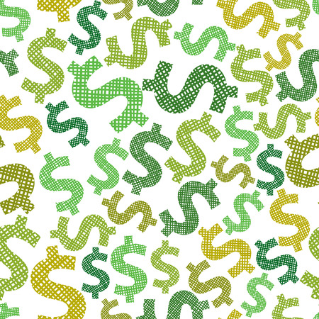 us dollar: Dollar seamless pattern, economy and money theme vector background.