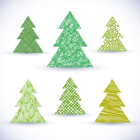 christmass: Christmass tree vector set.