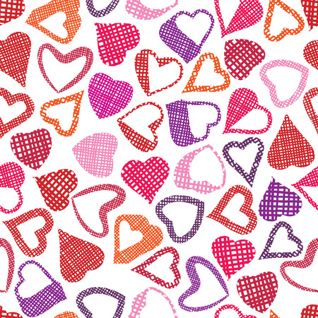 Hears seamless pattern, love valentine and wedding theme seamless vector background. Vector