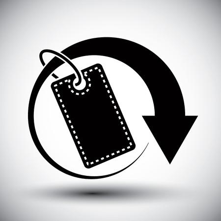 Tag retail theme vector simple single color icon.  Vector