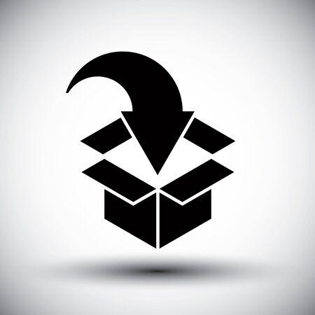 Gift box conceptual simple single color new idea vector symbol. Vector