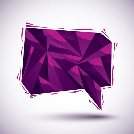 converse: Violet Sprechblase geometrische Symbol in 3d modernen Stil