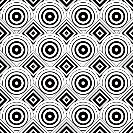 simplistic: Seamless geometric background, simple black and white stripes vector pattern Illustration
