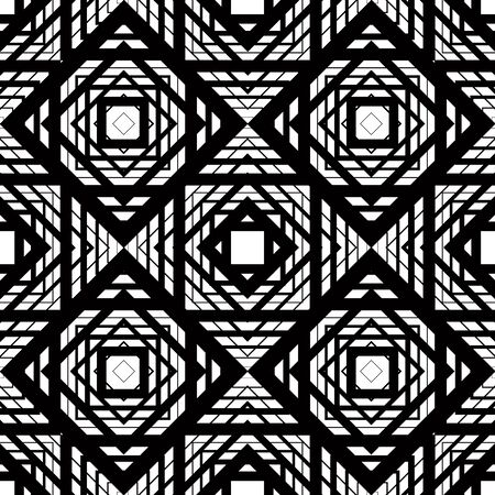 regular: Seamless geometric pattern, simple vector black and white stripes background