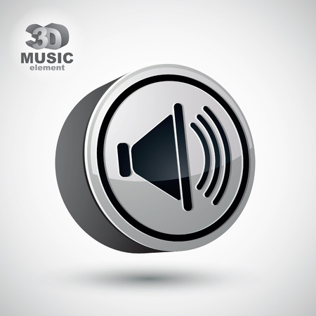 Loudspeaker icon, vector 3d design element. Vector