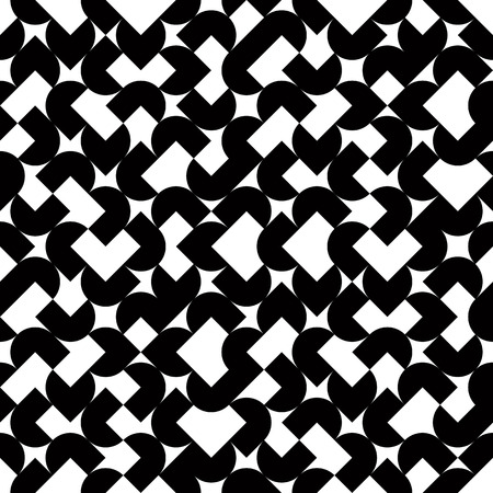 covering cells: Black and white geometric abstract seamless pattern, vector contrast spherical background.