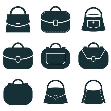 scrip: Bag vector icons set, symbols collection.