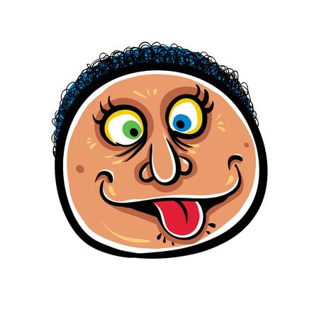 foolish: Foolish cartoon face, vector illustration.