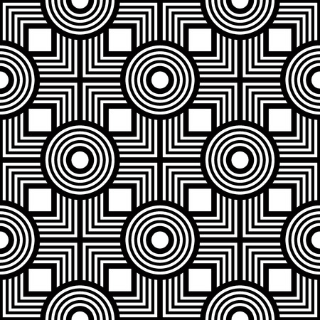Seamless black and white geometric pattern, simple vector background, accurate, editable and useful background for design or wallpaper. Иллюстрация